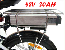 цена на 48V 20Ah Electric bike battery Lithium ebike/ luggage battery 48V 1000W with BMS,54.6V 2A charger High Quality