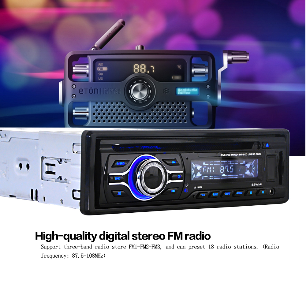 Mp3-Player Audio Classic Fm-Radio Car 1 with USB Sd-Card-Slots Automobile-1 DIN