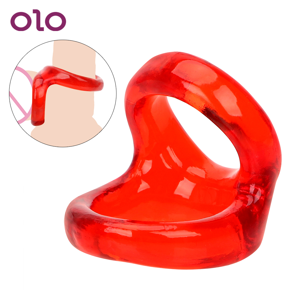 OLO Penis <font><b>Rings</b></font> Cock <font><b>Rings</b></font> Penis Harder Delay Ejaculation <font><b>Sex</b></font> <font><b>Toys</b></font> for Men <font><b>Adult</b></font> Games Male Chastity Device image