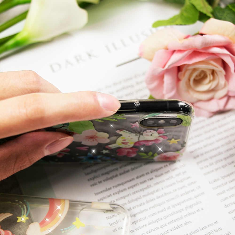 Caseier модный Единорог Стиль чехол для iPhone X шикарный Мягкий ТПУ силиконовый чехол для iPhone 5S 6 6S 7 8 Plus Funda Couque Capa
