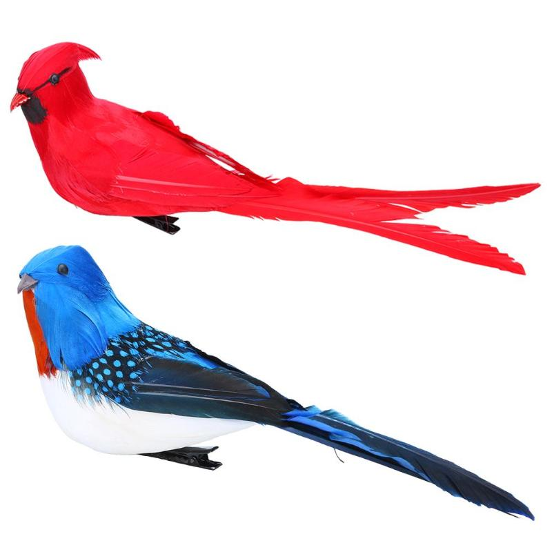 Simulation Parrot Animal Bird Window Gardening Lawn Ornament Yard Decor