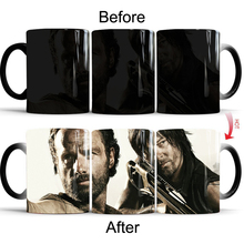 The Walking Dead Changing Cup Color Changing Mugs Heat Sensitive Cup Coffee Tea Milk Mug baldr earth mark cup tetris the heat change thermal color mugs