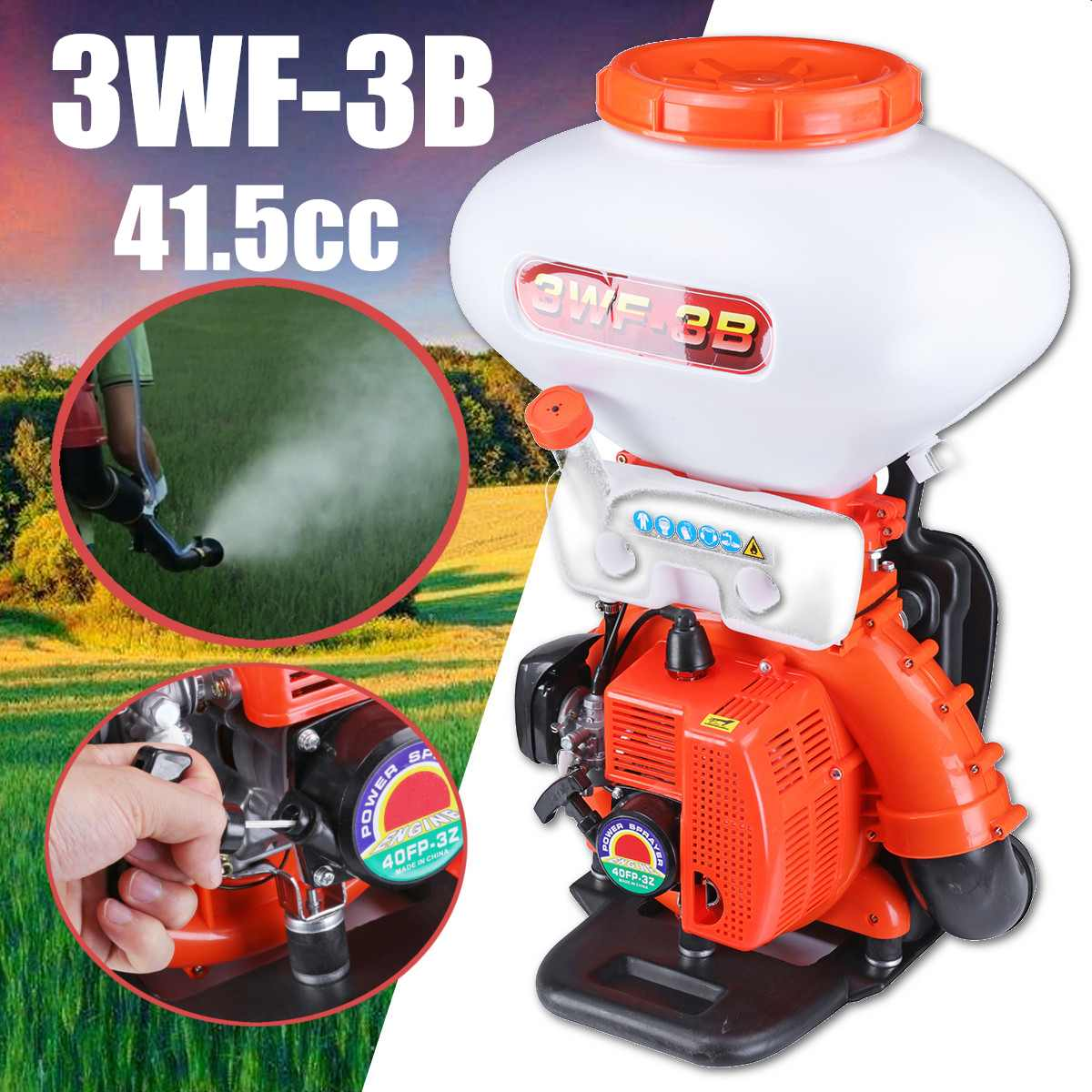 26L Сельское Хозяйство Туман Duster Мощность опрыскиватель Бензин Мощность ed 3WF 3B ранцевый воздуходув Fogger борьба с вредителями принадлежности с