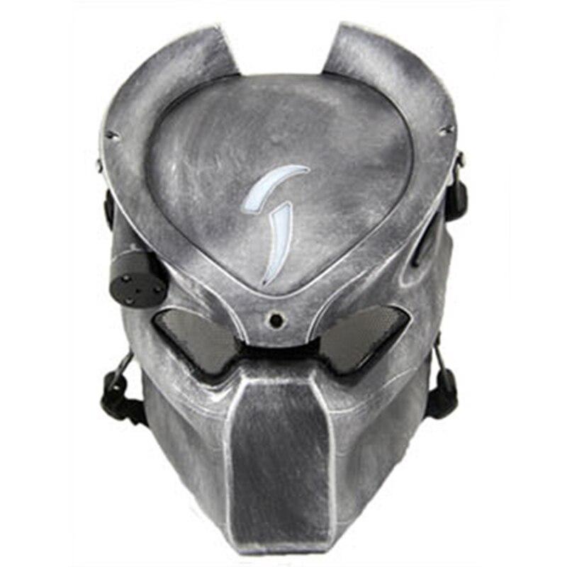 Alien Vs Predator Lonely Wolf маска с лампой уличная тактическая маска с полным лицом CS спортивный шлем Хэллоуин Вечеринка косплей маска ужаса