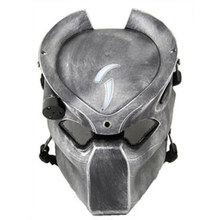 Alien Vs Predator Lonely Wolf Mask With lamp Outdoor Tactical Mask Full Face CS Sport Helmet Halloween Party Cosplay Horror mask(China)