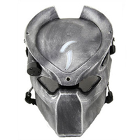 Alien Vs Predator Lonely Wolf Mask With lamp Outdoor Tactical Mask Full Face CS Sport Helmet Halloween Party Cosplay Horror mask