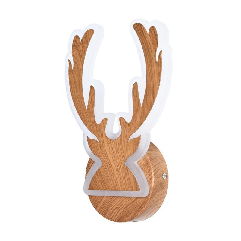 10W 30 LED Creative Deer Head Wall Acrylic Light Bedside Study Art Lamp Minimalist Creative Wooden Light10W 30 LED Creative Deer Head Wall Acrylic Light Bedside Study Art Lamp Minimalist Creative Wooden Light