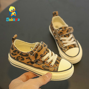 Image 4 - Babaya Children Shoes For Girls Sneakers 2019 Spring New Fashion Kids Canvas Shoes Boys Autumn Student Casual Leopard Shoes