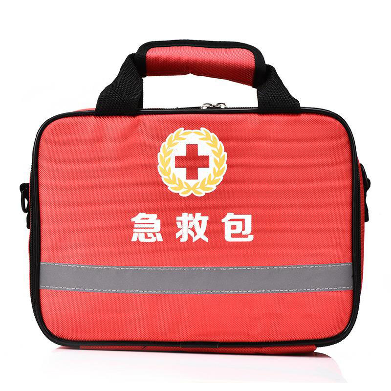 Outdoor First Aid Kit Outdoor Sports Red Nylon Waterproof Cross Messenger Bag Family Travel Emergency Medical Bag DJJB016