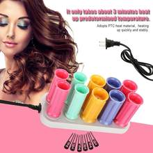 Electric Heated Roller Curling Roll Hair Curlers Set Hair Sticks Tube Dry&Wet Curly Hair Styling Hairdressing Heated Roller(China)
