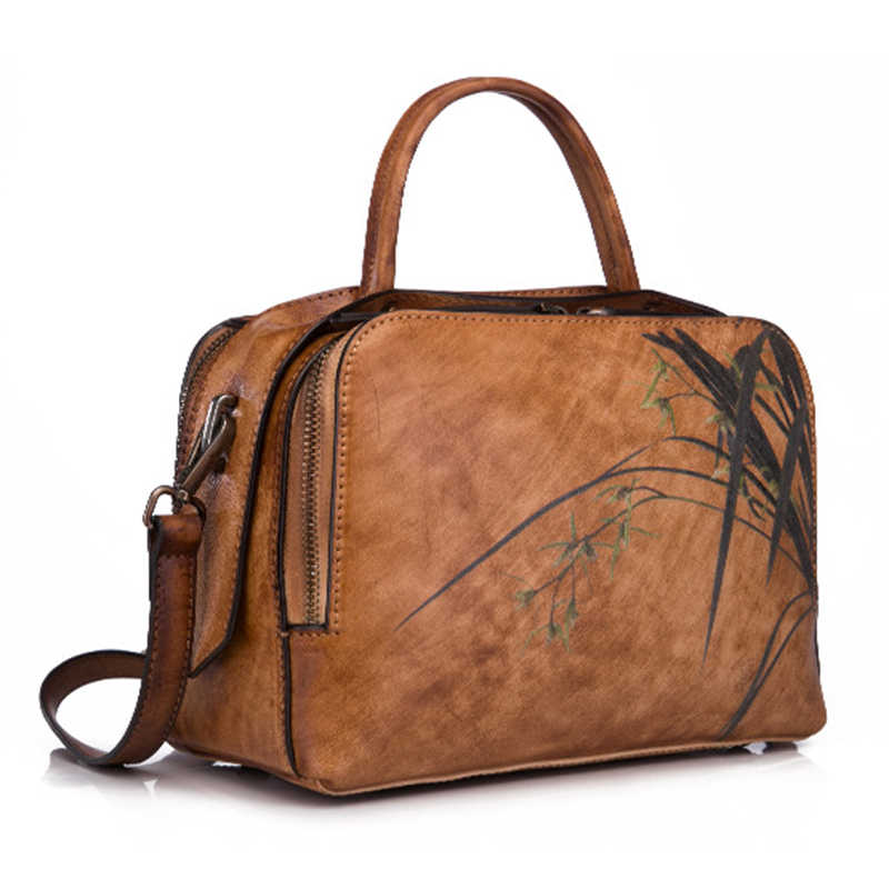 Натуральная кожа Сумка через плечо с ручкой сверху на плечо сумка-мессенджер в национальном стиле Высококачественная женская сумка из натуральной кожи