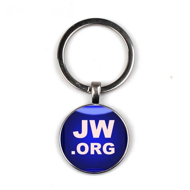 Świadek jehowy, brelok ze szkła czas klejnot brelok klucz biżuteria JW. ORG ręcznie robione zdjęcie osobowość brelok JW. ORG biblii