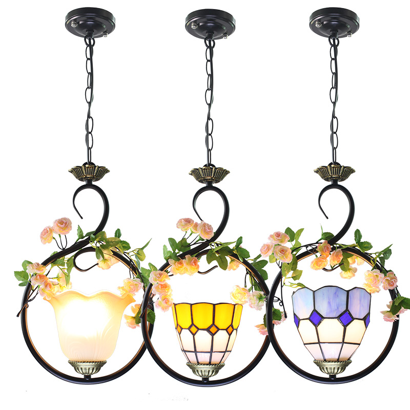 Mediterranean Pendant Lamp Modern home porch balcony Hanging Lights bedroom  bar green plant decoration personality Led lampsMediterranean Pendant Lamp Modern home porch balcony Hanging Lights bedroom  bar green plant decoration personality Led lamps