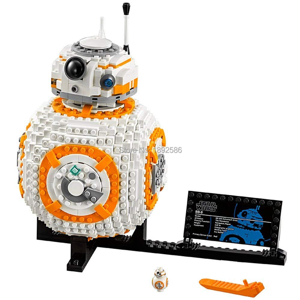 1106pcs New Compatible LegoINGlys Star Wars VIII BB 8 75187 Model Sets Building Block kit Toys