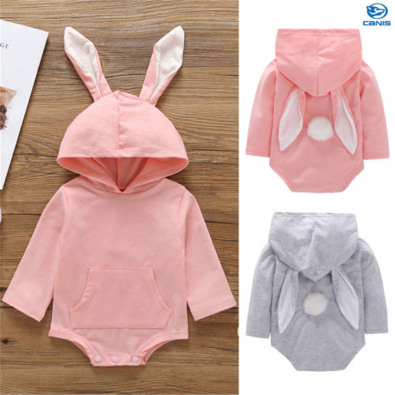 Baby Toddler Girl Boy Cute Outfits Bunny Ear   Romper   Kauzentop Cotton Hot New Baby Girl Clothes Newborn Cute Rabbit   Romper