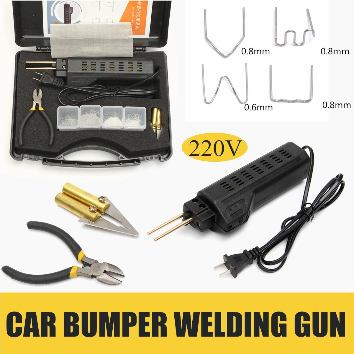 Best Price 220-250v Hot Stapler Car Bumper Plastic Welding Torch Fairing Auto Body Tool Welder-machine 0.6/0.8mm Plastic Welders 200 Staples