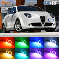 For Alfa Romeo Mito 2008 2009 2010 2012 2013 2014 2015 RF Bluetooth Controller Multi Color Ultra bright RGB LED Angel Eyes kit