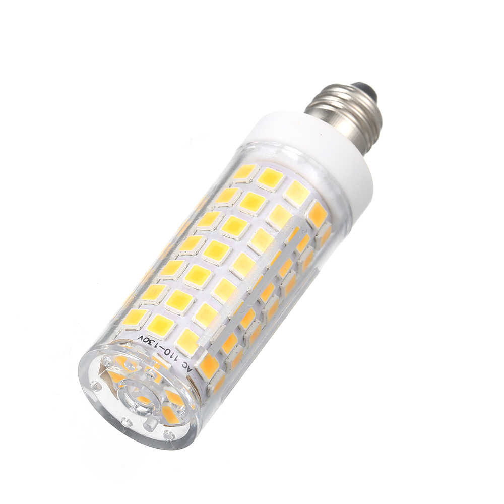 E11 5w 500lm 110v Led Lamp 90 Beads 2835 Corn Light Bulb Dimmable Halogen Replacement For Chandeliers Cabinet Candelabra Base