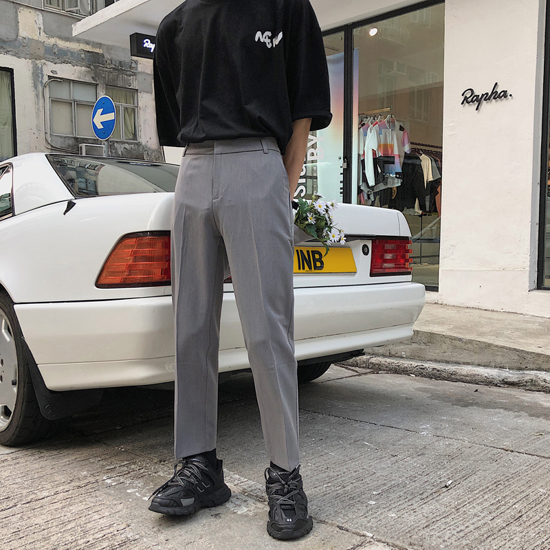 2019 Spring And Summer New Harajuku Style Korean Casual Fashion Couple Straight Small Trousers Joggers Streetwear Best Recommend