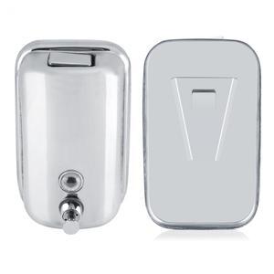 Image 2 - 800/1000ML Bathroom Wall Mounted Stainless Steel Liquid Soap Dispenser Hand Shampoo Pump Sanitizer Shower Lotion Dispenser New