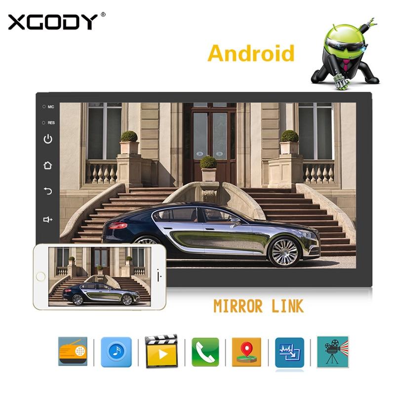 XGODY 7 Navigator 2 Din Car Radio Android GPS Navigation 1G+16G Quad Core 3G/4G WIFI Bluetooth Rear Camera Autoradio Free Map navigator 71 422 nls 5050y30 7 2 ip20 12b r5 5 4670004714225 220235