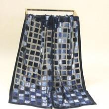 Бархатный шелковый шарф женский размер: 23*140 см Женский Мужской#130