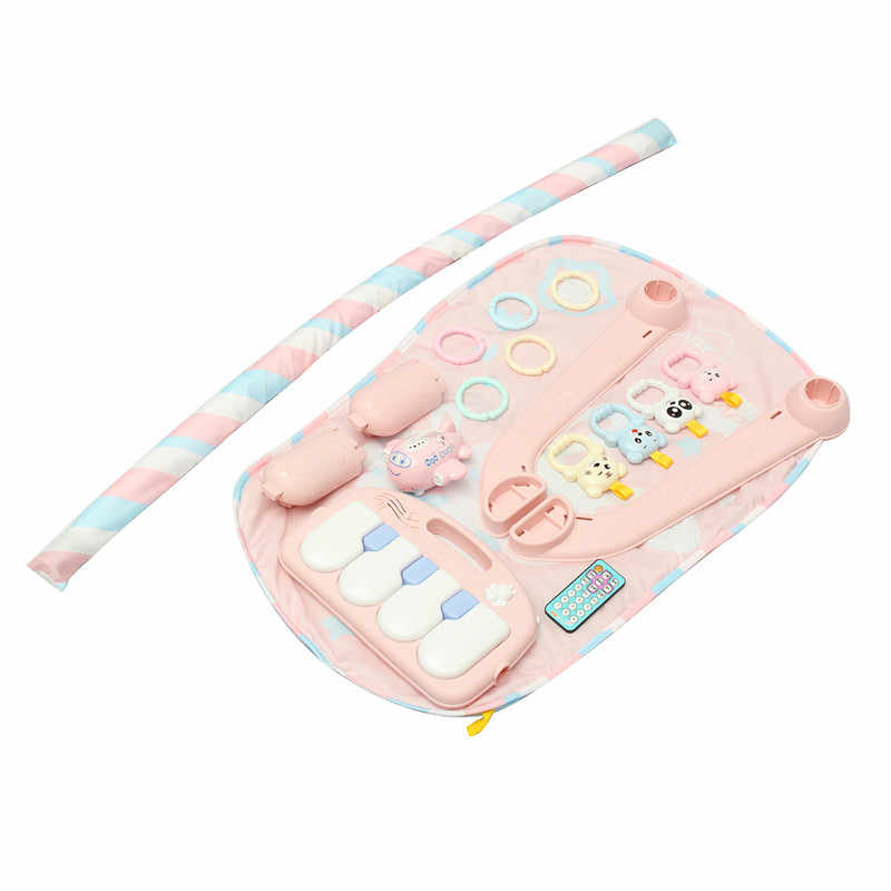 Musical Developing Gym Mat Baby Floor Rug Kids Children Fitness Rack Baby Toys Piano Music Blanket Play Intellectual Development