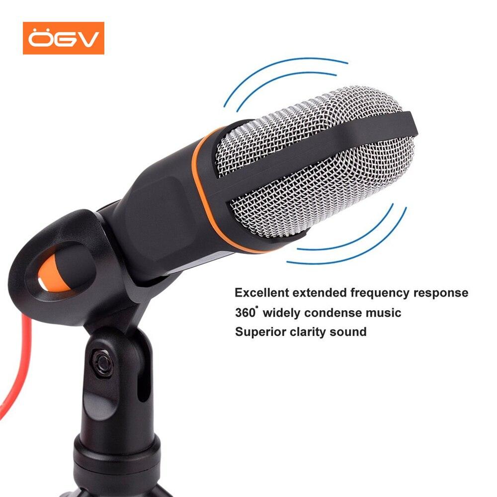OGV Computer Mikrofon 3,5mm Wired Kondensator Sound Mikrofon Mit Shock Mount Für Aufnahme Für Telefon PC Laptop Karaoke