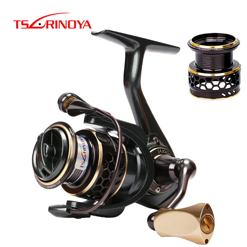 TSURINOYA Fishing Reel JAGUAR 1000 2000 3000 Double Spools 9+1BB Saltwater Spinning Fishing Lure Reel Rigid Aluminum Body