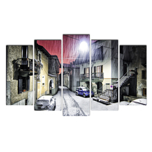 Canvas Painting Modular Picture Home Decoration Winter Street Wall Frame for Living Room Modern Printing Free Shipping Cairnsi