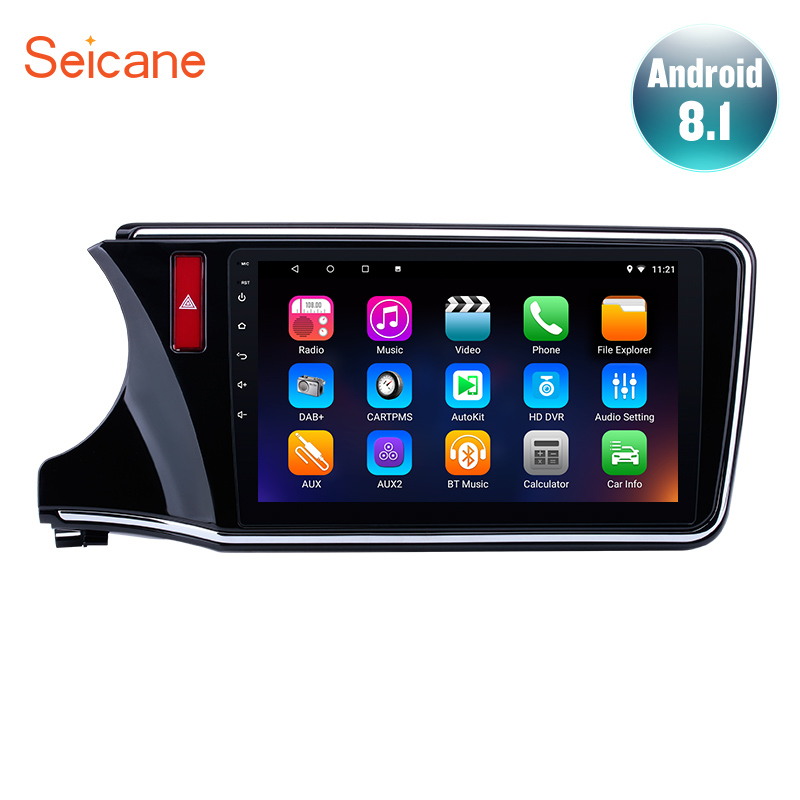 <font><b>Seicane</b></font> Android 7.1/8.1 GPS Navi Stereo Player for 2014 -2016 2017 <font><b>Honda</b></font> <font><b>CITY</b></font> Left Hand Drive 10.1 inch Car Radio with Bluetooth image