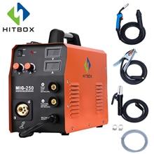 HITBOX сварочный аппарат Mig TIG ARC MIG250 Multi-function Mig сварочный аппарат газ без газовой сварки 220 В домашнего использования Заводская машина
