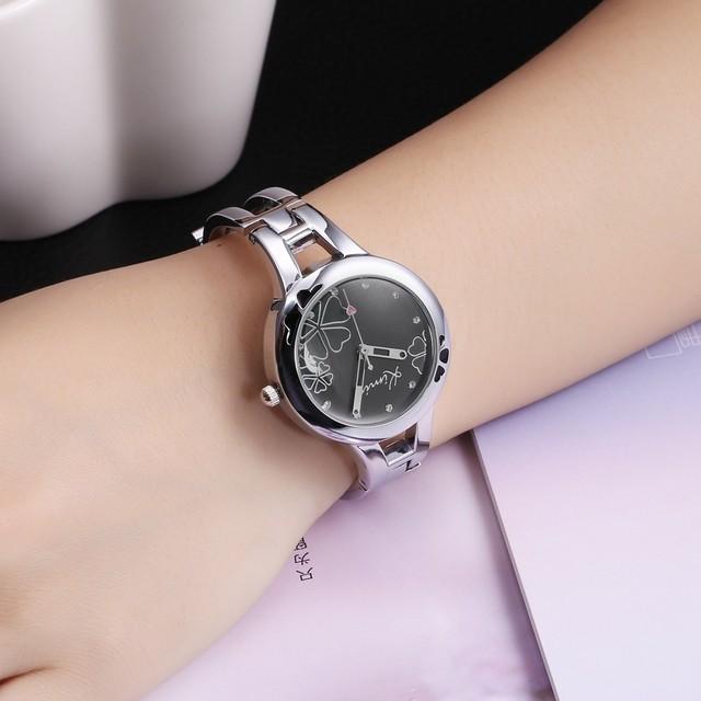 Women's Elegant Watch with Flowers