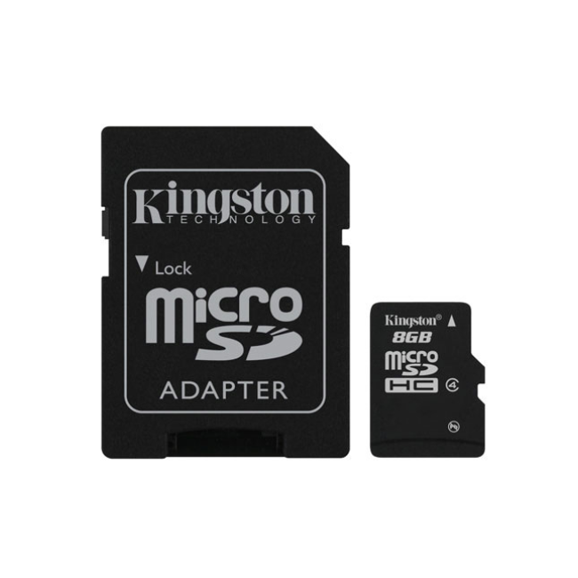 Kingston Technology SDC4/8GB, 8 GB, MicroSD, Flash, Black