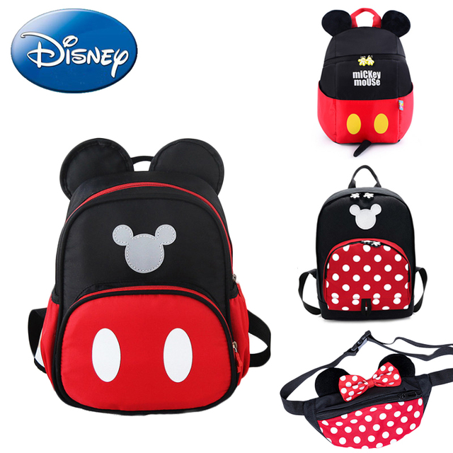 683ad16962c4 Disney 2019 New Mickey Mouse Backpack Kids Girls Boy School-Bag Cute Children  Backpacks Polyester Kindergarten Cartoon Bags