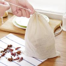 Drawstring Filter Bag Soup Bag Marinated Slag Empty Tea Bags With String Kitchen Cooking Accessaries Supplies-cashback