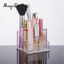 Cosmetic Acrylic Makeup Brush Lipstick Eyeshadow Pens Essential Oils Bottles Display Storage Stand Holder Rack Organizer(China)