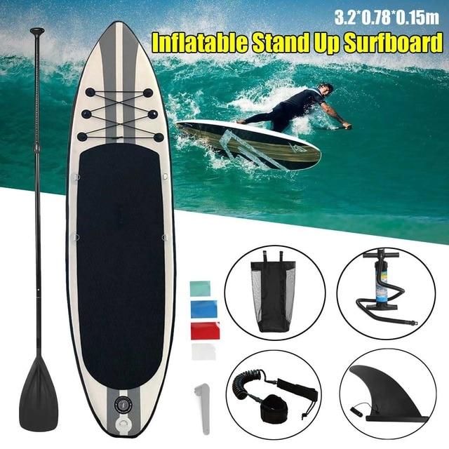 7bc4c4a79 Prancha inflável 320x78x15 centímetros Prancha Stand Up Paddle Surf Board  Esporte Sup Board + Bomba de