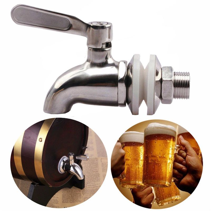 Stainless Steel Faucet Tap Draft Beer Faucet for Home Brew Fermenter Wine Draft Beer Juice Dispenser Drink Fridge Kegs image