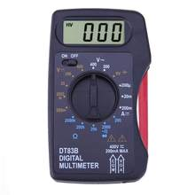 Multimètre numérique de poche DT83B, ampèremètre, voltmètre, résistance DC/AC, tension Ohm, Instruments électriques multiples