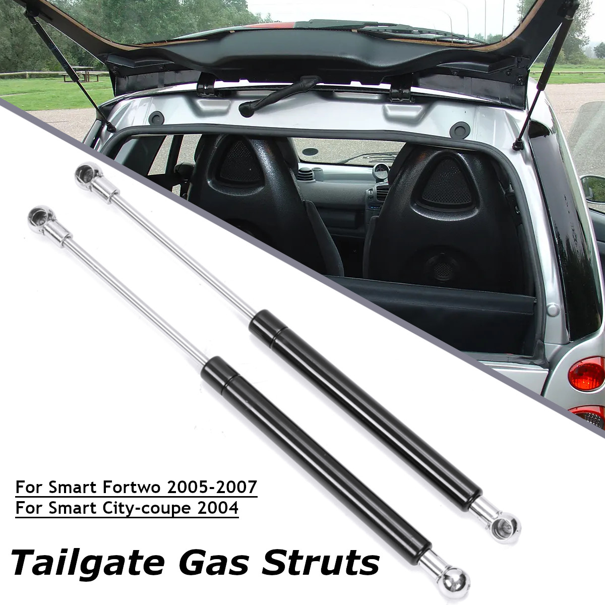 Pair of Tailgate Gas Struts for Smart ForTwo Hatchback 1998-2004