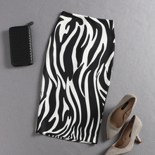 Zebra pattern Print pencil Skirt Bodycon Jupe Longue Femme High Waist zebra-stripe skirts