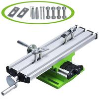 Mini Multifunctional Working Table Mini Precision Multi Function Table Milling Machine Bench Drill Vise X and Y axis Adjustment