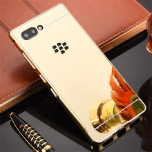 For BLACKBERRY KEY2 Case 4.5 Mirror Plating Aluminum Metal Bumper Hard PC Back Case For BLACKBERRY KEY 2 KEYTWO KEY TWO decorative colors crystal protective back case for blackberry 8520 8530