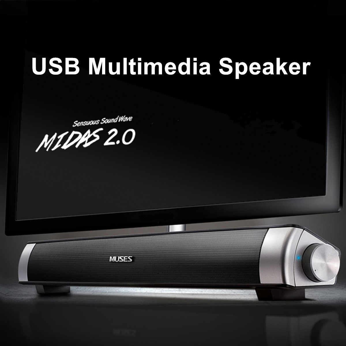 Portable Speaker 6 W Kabel Soundbar Speaker Amplifier Hi Fi Stereo Suara Bar dengan USB AUX MIC untuk Komputer PC