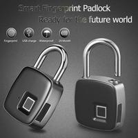 Fingerprint Waterproof Smart Keyless Lock Home Security Anti Theft Door Padlock