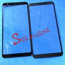 Écran tactile de remplacement de lentille en verre décran extérieur avant de 10 pièces pour Samsung Galaxy A7 2018 A750 A750F