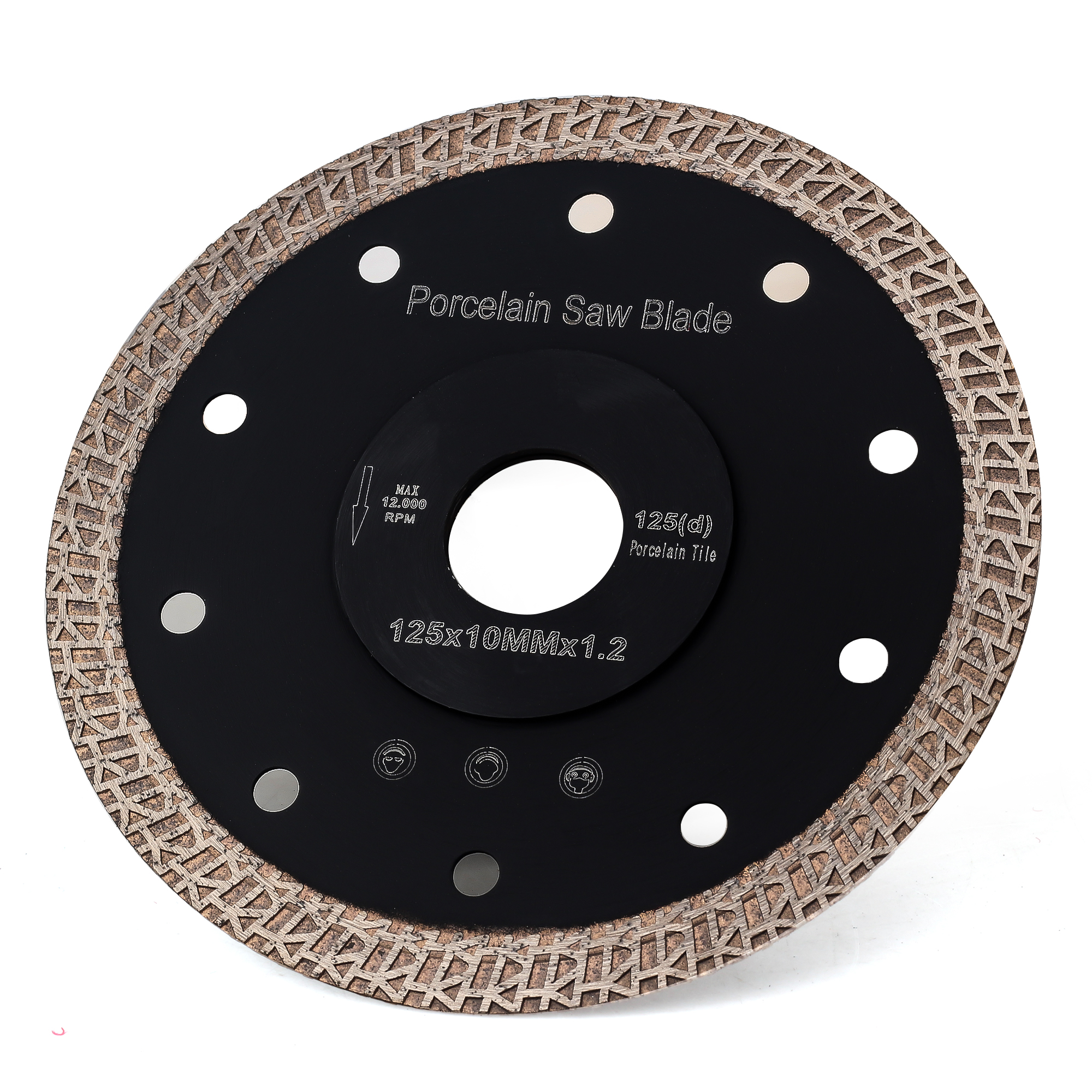 Free Shipping DC-SRSB03 5 Inch Diamond Saw Blade 125mm For Porcelain And Ceramic Tile Cutting