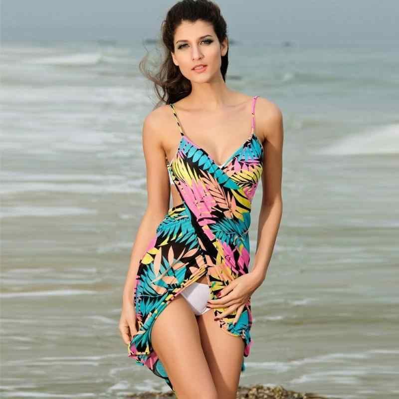 c10843be6b ... Summer Style Women Beach Dress Sexy bikini cover-ups sarong sling beach  wear dress wrap ...
