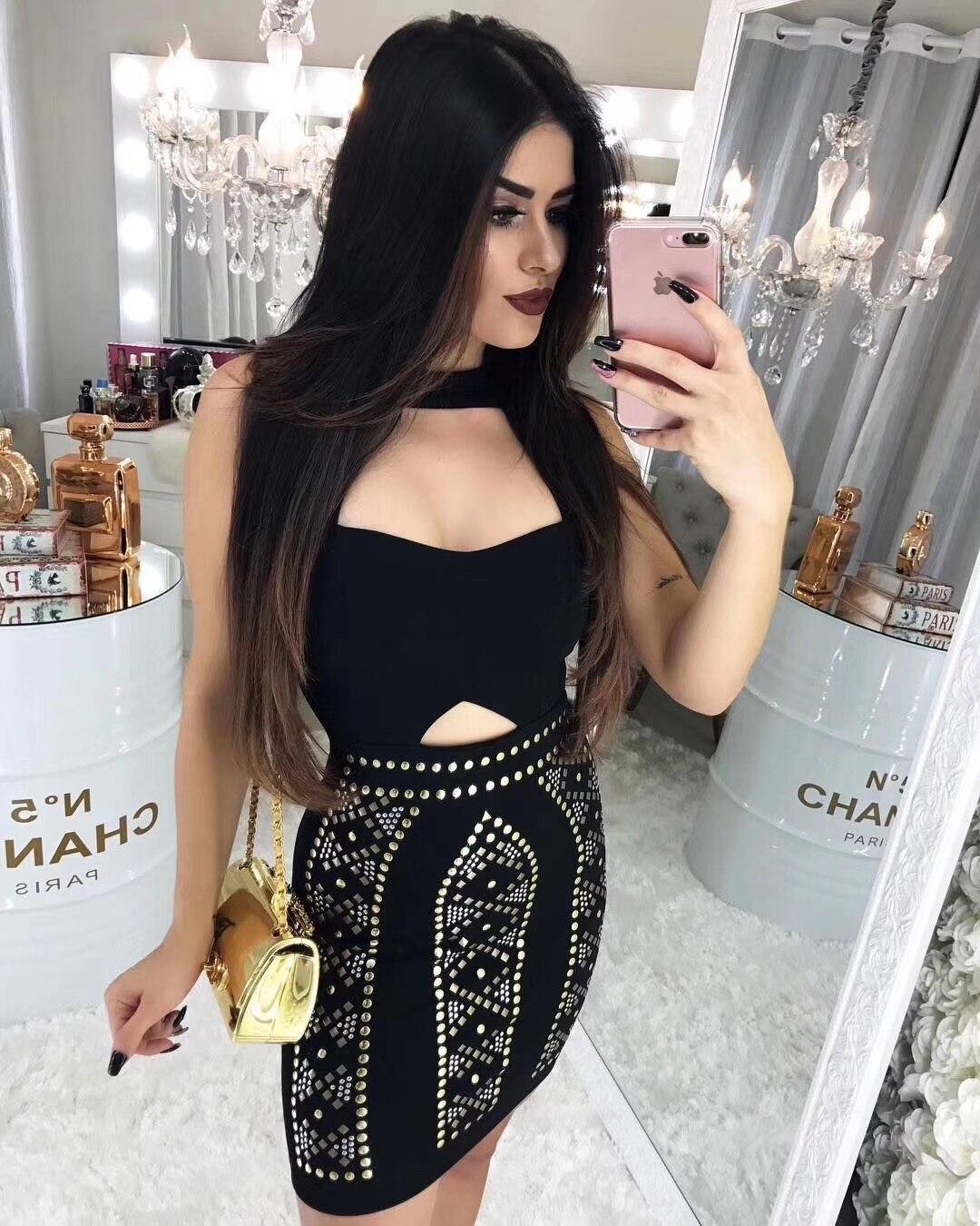 Nouvelle mode femmes Sexy rayonne Bandage noir moulante serré extensible Slim Fit avec ceinture Sexy Club célébrité partie Mini robe
